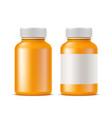 realistic medical drugs pills bottle mockup vector image vector image