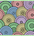 Seamless pattern of abstract ethnic mandalas