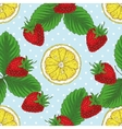Seamless Pattern with Strawberry and Lemon Slices vector image