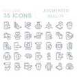 set line icons augmented reality vector image
