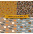 Set of 4 seamless autumn patterns vector image