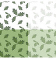 set of green oak leaves drawing without the mesh vector image vector image
