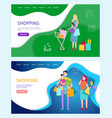 shopping woman and man carrying bags returning vector image vector image