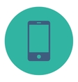 Smartphone flat cobalt and cyan colors round vector image vector image