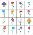 Squared Floral Set vector image vector image