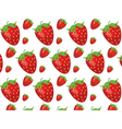 Strawberries pattern vector image vector image