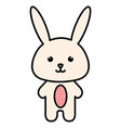 stuffed animal rabbit vector image