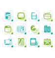 stylized media icons vector image