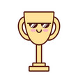 trophy cup award kawaii isolated icon vector image