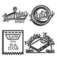 Vintage laundry emblems vector image