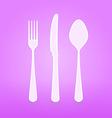 violet cutlery set vector image