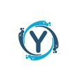 water clean service abbreviation letter y vector image vector image