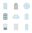 window pane icons set cartoon style vector image vector image