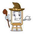 witch easel mascot cartoon style vector image vector image