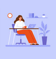 woman working or studying online at home vector image