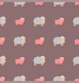 cute pig cartoon animal seamless pattern vector image