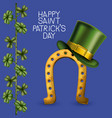 poster happy saint patricks day with golden vector image