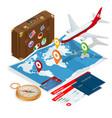 airplane passport flight travel traveller fly vector image