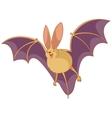 Cartoon happy bat vector image