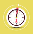 2 two minutes clock icon vector image vector image