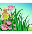 A fairy at the garden vector image vector image