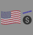 american flag collage bank seal and scratched vector image vector image