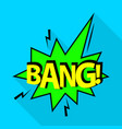 bang icon pop art style vector image vector image