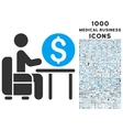 Banker Office Icon with 1000 Medical Business vector image