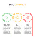 business infographics presentation with 3 options vector image vector image