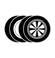 car tires isolated icon vector image vector image