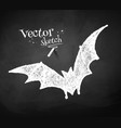 Chalkboard drawing of bat vector image vector image
