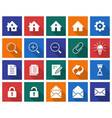 collection of square icons user interface set 1 vector image vector image