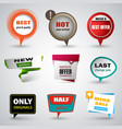 collection sale modern pointers design elements vector image vector image