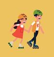 cool summer sport for kids siblings enjoying vector image vector image