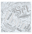 Customizing With Preferences Word Cloud Concept vector image vector image