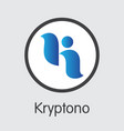 exchange - kryptono the crypto coins or vector image