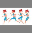 female running animation frames set sport vector image vector image