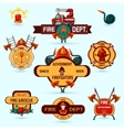Firefighter Emblems Set vector image vector image