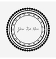 Frame with black pattern on circle for you text vector image vector image