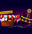 funfair or fairground cartoon vector image vector image