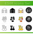 gardening store categories icons set vector image vector image