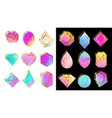 gems with gradients jewelry stone abstract vector image vector image
