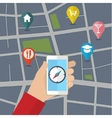Gps concept in flat style vector image vector image