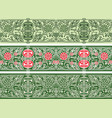 green floral seamless borders collection vector image vector image
