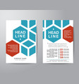 Hexagonal brochure flyer design layout template in vector image