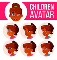 indian girl avatar set kid high school vector image vector image