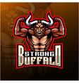 king buffalo esport mascot logo vector image
