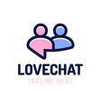 love chat people dating logo design chat online vector image vector image