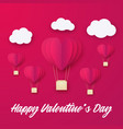 love invitation card valentines day balloon heart vector image vector image