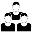 mans icon vector image vector image